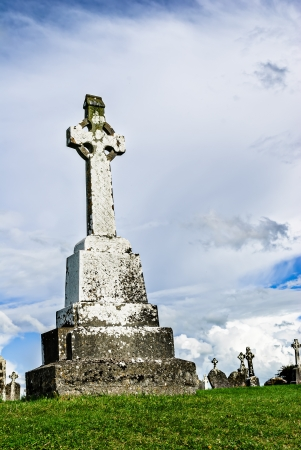 celtic cross: Celtic irish high cross at Clonmacnoise, Ireland