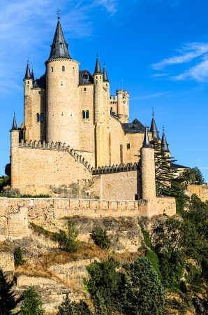 segovia: The Alcazar of Segovia is a stone fortification, located in the old city of Segovia, Spain