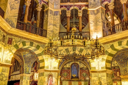 palatine: the Palatine Chapel, part of the Cathedral of Aachen and constructed by Charles the Great (Charlemagne) around 792 in Aachen, Germany.