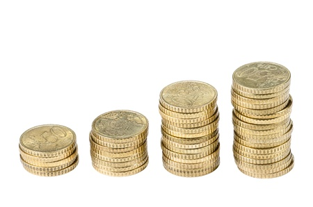 cents: 50 EURO cents stacks