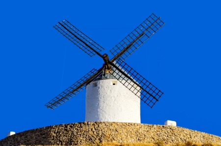 don: famous  Don Quixote Windmills of Consuegra, Spain Stock Photo