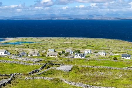 Ballinacregga, typical settlement on Inishmore  Arans Islands , Galway, Ireland