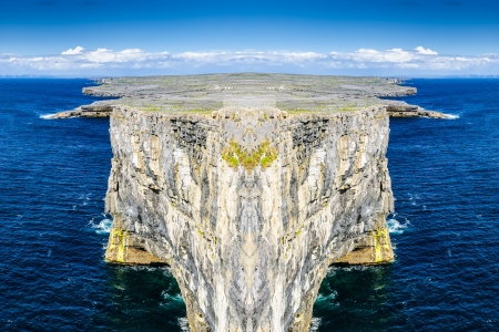cliffs composition landscape in the Atlantic ocean  Stock Photo