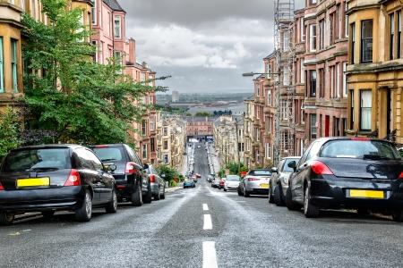 Glasgow s steepest street, the Gardner Street, Scotland, UK