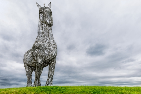 clydesdale:  The Heavy Horse  by Andy Scott is a sculpture of a Clydesdale Horse and one of the best known artworks in Scotland, Glasgow