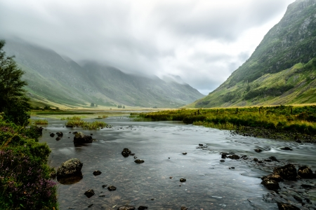 Glencoe, in the heart of the Highlands, one of ScotlandÕs most famous and scenic glens Stock Photo