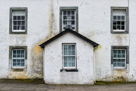 Traditional small town house, Scotland, UK photo