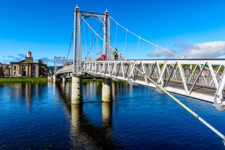 Inverness suspension bridge, Scotland, UK