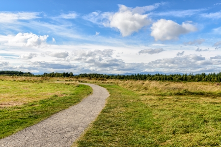 battlefield: rural path through the Culloden Battlefield in the Highlands, Scotland Stock Photo