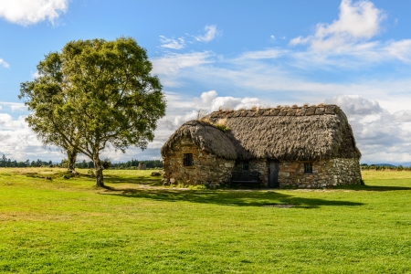 traditional house: traditional house in the Culloden Battlefield in the Highlands, Scotland