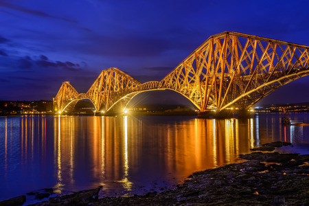 Forth Rail Bridge over the Firth of Forth, Edinburgh, Scotland, UK