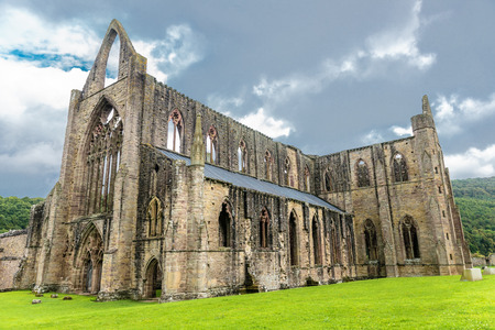 abbey: The Tintern Abbey church, first Cistercian foundation in Wales, dating back to a.d. 1131