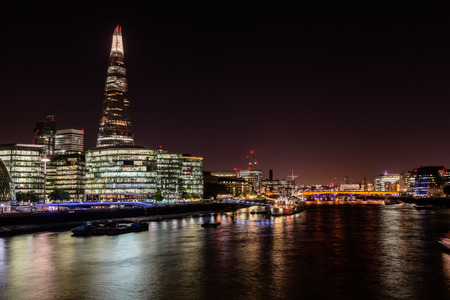 river scape: nightly city scape at the River Thames, London, UK