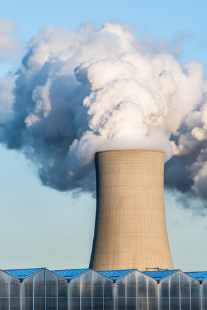 coal fired: Cooling towers of a Coal-fired power station against the blue sky