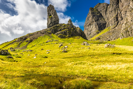 isle: Old man of Storr and The Storr, Isle of Skye, Scotland