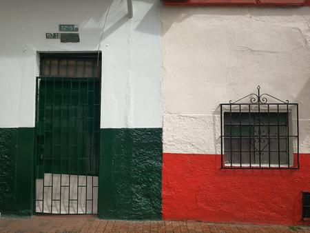 Old houses in la Candelaria of Bogota, Colombia