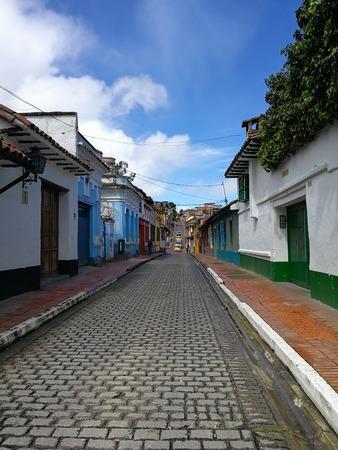 Streets of la Candelaria in Bogota, Colombia