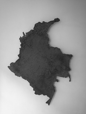 Map of Colombia art