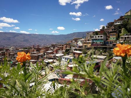 Comuna 13 view over Medellin, Colombia