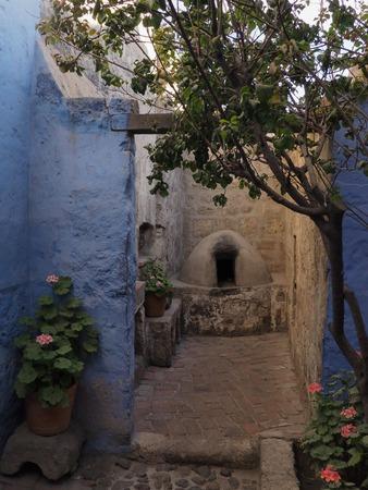 Stone stove in Santa Catalina Monastery in Arequipa, Peru