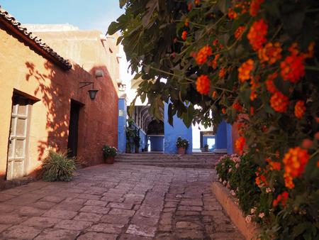 Santa Catalina Monastery in Arequipa, Peru Imagens