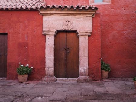 House in Santa Catalina Monastery in Arequipa, Peru