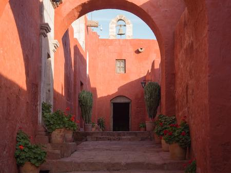 Street in Santa Catalina Monastery in Arequipa, Peru