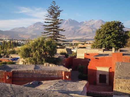 View over Santa Catalina Monastery in Arequipa, Peru