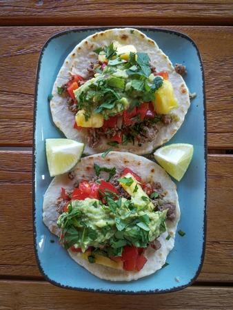 Fresh mexican tacos