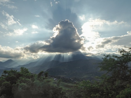 View over the Cauca valley in Colombia