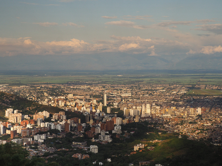 View over Cali, Colombia 写真素材