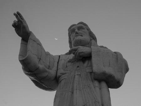 Statua di Cristo (Cristo de La Misericordia) a San Juan del Sur, Nicaragua Archivio Fotografico - 109820096