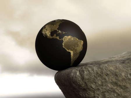 Earth on the edge Stock Photo