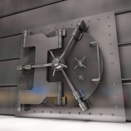 vaulted door: Bank vault