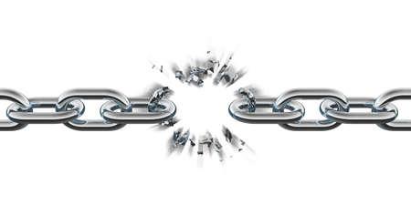 cadena rota: Cadena rompiendo