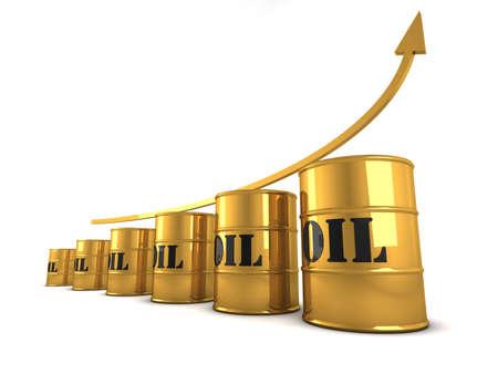 Increasing oil price Stock Photo