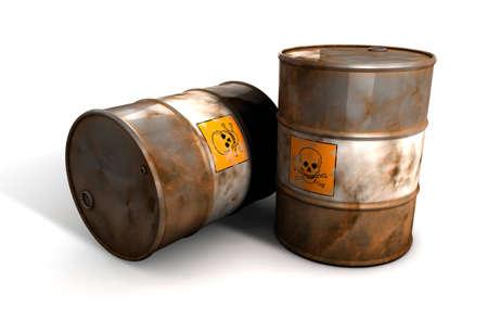 Old toxic wast Barrels