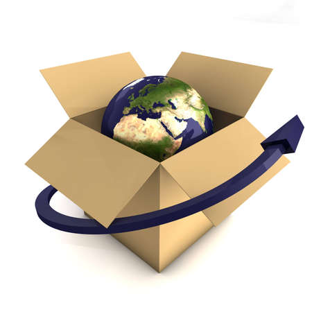 out of a box: Worldwide Delivery Concept