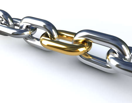 chain link: Golden Chain Link Stock Photo