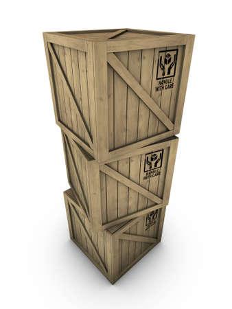 Wooden boxes  Standard-Bild