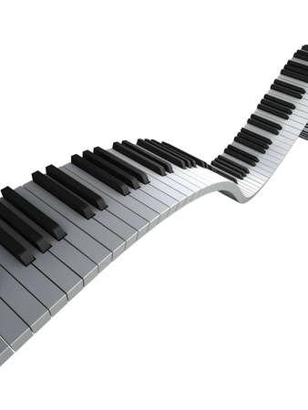 Piano keyboard render