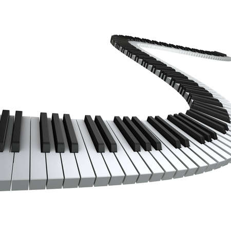 Piano keyboard render Stock Photo - 7321606