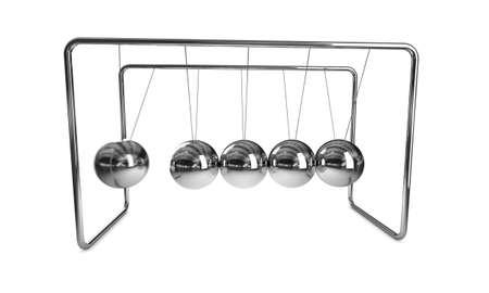 Newtons Cradle Standard-Bild