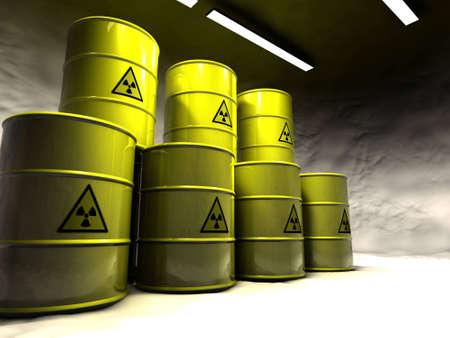 Salt mine with atomic waste