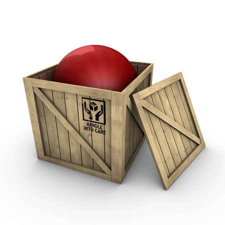 Wooden box Standard-Bild