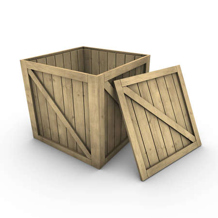 Wooden box (incl. clipping path)