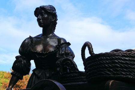 The mysterious statue of Molly Malone in Dublin Stock Photo - 11501680