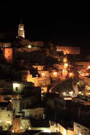 rupestrian: Night view of Sassi di Matera, Italy