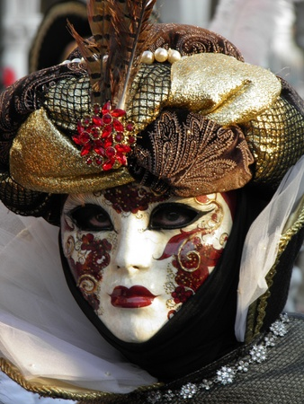 venice carnival: A colorful carnival mask in Venice
