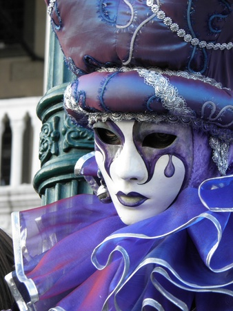 A colorful carnival mask in Venice